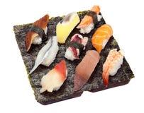 Jogo do sushi de nove Imagem de Stock