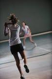 Jogo do tênis Fotografia de Stock Royalty Free