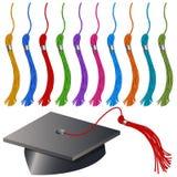 Jogo do tampão e do Tassel da graduação Fotos de Stock