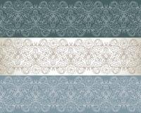 Jogo do teste padrão três floral sem emenda Imagens de Stock Royalty Free