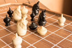 Jogo do thr do jogo para a xadrez Imagem de Stock