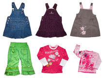 Jogo do vestuário dos miúdos Foto de Stock Royalty Free