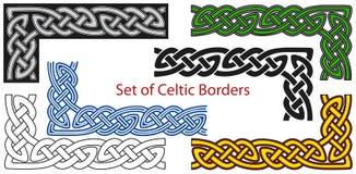 Jogo do vetor de beiras de estilo celta Foto de Stock Royalty Free