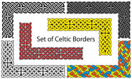 Jogo do vetor de beiras de estilo celta Imagem de Stock Royalty Free