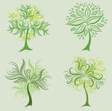 Jogo do vetor de elementos do projeto da árvore da mola Fotos de Stock