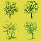 Jogo do vetor de elementos do projeto da árvore da mola Foto de Stock Royalty Free