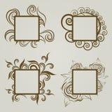 Jogo do vetor de frames do vintage Fotografia de Stock Royalty Free