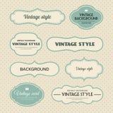Jogo do vetor de frames do vintage Imagem de Stock