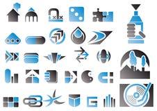 Jogo do vetor de símbolos do projeto Imagens de Stock