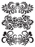 Jogo do vetor de testes padrões florais Imagens de Stock Royalty Free