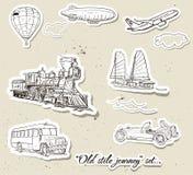 Jogo do vetor do transporte do vintage Imagem de Stock Royalty Free