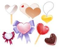 Jogo do vetor dos corações Foto de Stock Royalty Free
