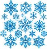 Jogo do vetor dos flocos de neve ilustração do vetor