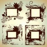 Jogo do vetor dos frames com folhas. Acção de graças Foto de Stock Royalty Free