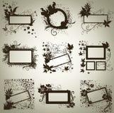 Jogo do vetor dos frames com folhas do outono. Thanksgiv Fotografia de Stock Royalty Free