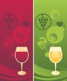 Jogo do vinho Fotos de Stock Royalty Free