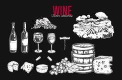 Jogo do vinho Vetor Imagem de Stock