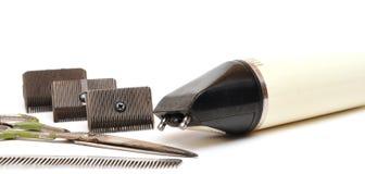 Jogo do vintage das ferramentas para cortar o cabelo Fotos de Stock Royalty Free