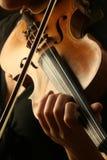 Jogo do violino Imagens de Stock