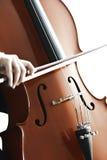 Jogo do violoncelo Fotografia de Stock