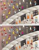 Jogo do Visual das diferenças da entrada do partido Fotografia de Stock Royalty Free