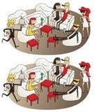 Jogo do Visual das diferenças da sala de estar Imagem de Stock