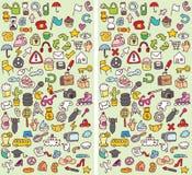 Jogo do Visual das diferenças dos ícones ilustração stock