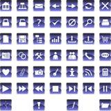 Jogo dos ícones 1 Fotografia de Stock