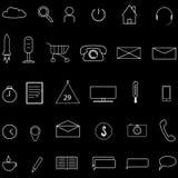 Jogo dos ícones ilustração stock