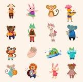 Jogo dos ícones animais Fotografia de Stock Royalty Free