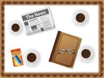 Jogo dos ícones dos copos com café ilustração do vetor