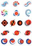 Jogo dos ícones e dos elementos do projeto Fotografia de Stock Royalty Free