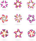 Jogo dos ícones e dos logotipos abstratos #2 - projeto ilustração royalty free