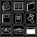 Jogo dos ícones (escritório) Fotos de Stock