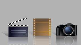 Jogo dos ícones para o filme Fotos de Stock Royalty Free