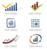 Jogo dos ícones para o projeto do logotipo Imagem de Stock Royalty Free