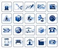 Jogo dos ícones para o Web site Ilustração do Vetor