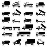 Jogo dos ícones - símbolos do transporte. Imagens de Stock