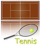 Jogo dos artigos para o tênis. Fotos de Stock Royalty Free