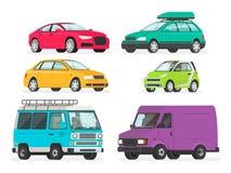 Jogo dos carros Ve?culos, carro de esportes, sedan, carrinha, carro el?trico, carrinha, caminh?o Auto cole? ilustração stock