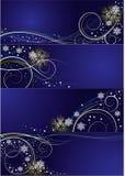Jogo dos cartões com projeto do Natal do vetor Fotografia de Stock