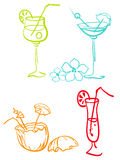 Jogo dos cocktail Foto de Stock Royalty Free