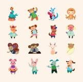 Jogo dos ícones animais Fotos de Stock Royalty Free