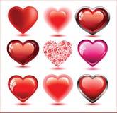 Jogo dos corações ilustração royalty free
