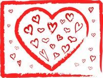 Jogo dos corações Foto de Stock