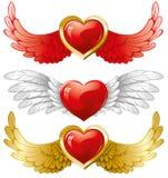 Jogo dos corações com asas Foto de Stock