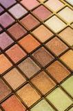 Jogo dos cosméticos para a textura da composição da cara Imagem de Stock