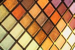 Jogo dos cosméticos para a textura da composição da cara horizontal Imagens de Stock