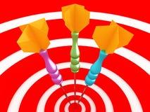 Jogo dos dardos. imagem do close-up 3D Imagem de Stock