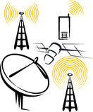 Jogo dos dispositivos de rádio Fotografia de Stock